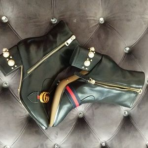 Authentic Gucci Pearl Boots